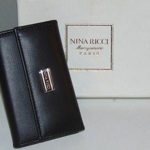 Black NIB Vtg Paris Maroquinerie Leather Key Case